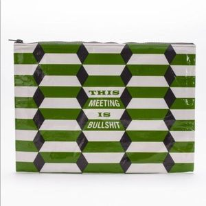 Blue Q NEW pouch bag this meeting is bullsh*t GIFT